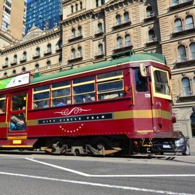 The free City Circle Tram in Melbourne, Australia.