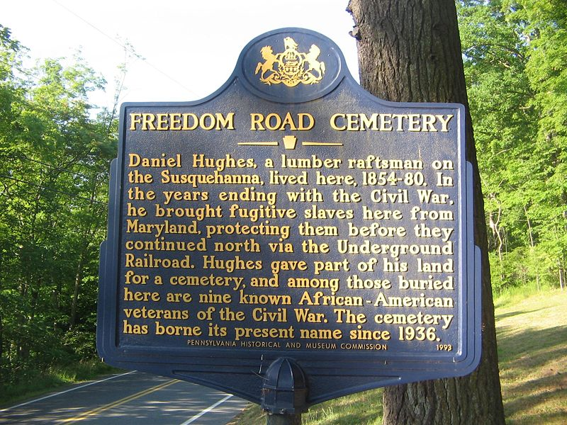 The Freedom Road Cemetery in Pittsburgh, Pennsylvania.