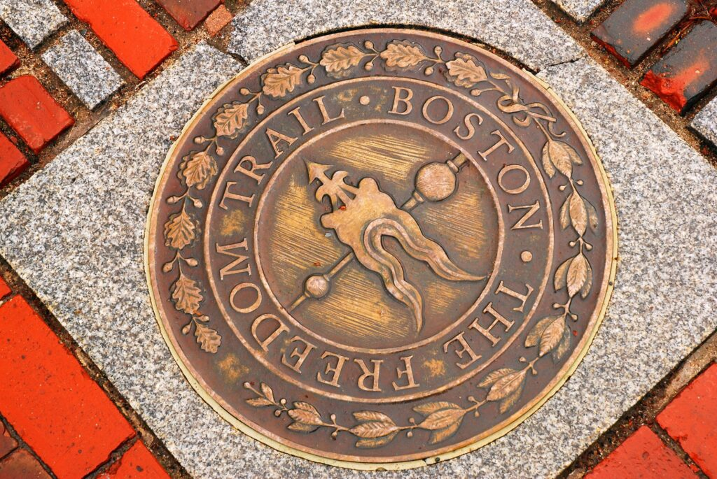 The Freedom Trail in Boston.