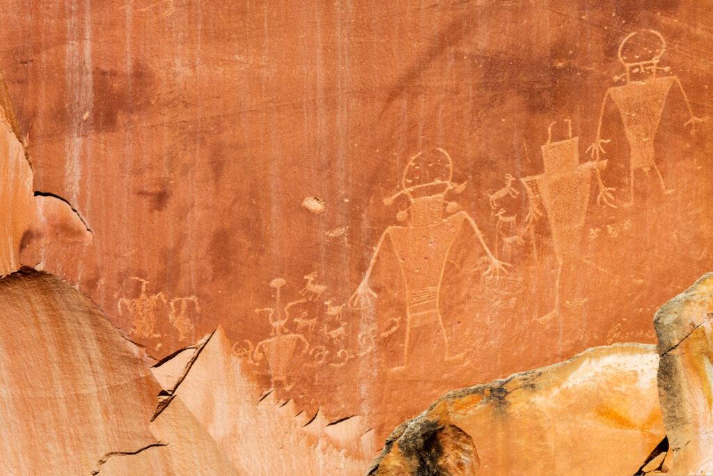 The Fremont Culture Petroglyphs near Capitol Reef.