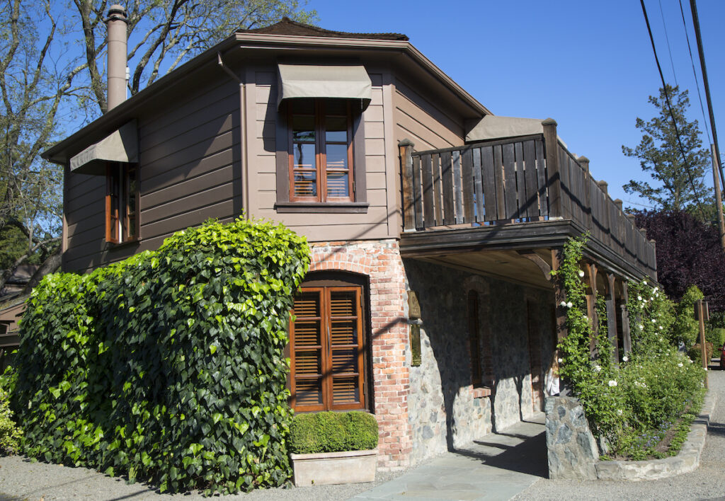 The French Laundry, a Michelin-starred restaurant in Yountville.