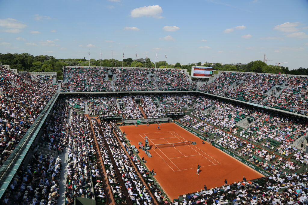 The French Open at Stade Roland Garros.