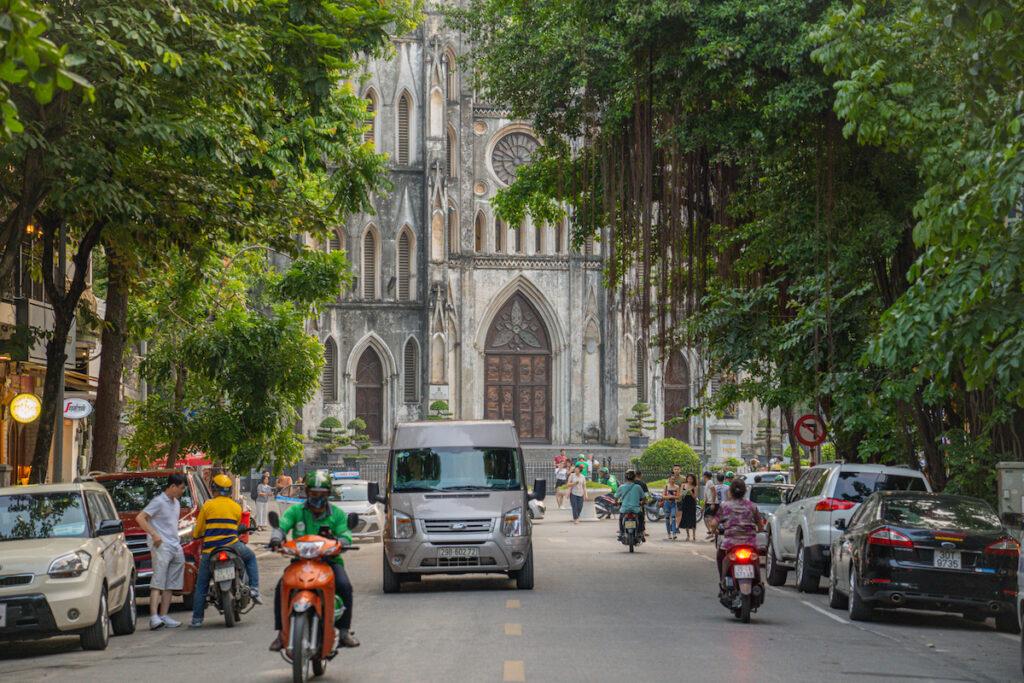 The French Quarter in Hanoi, Vietnam.
