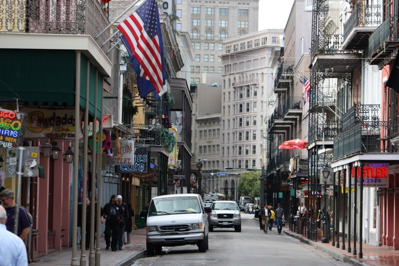 The French Quarter of New Orleans, Louisiana.