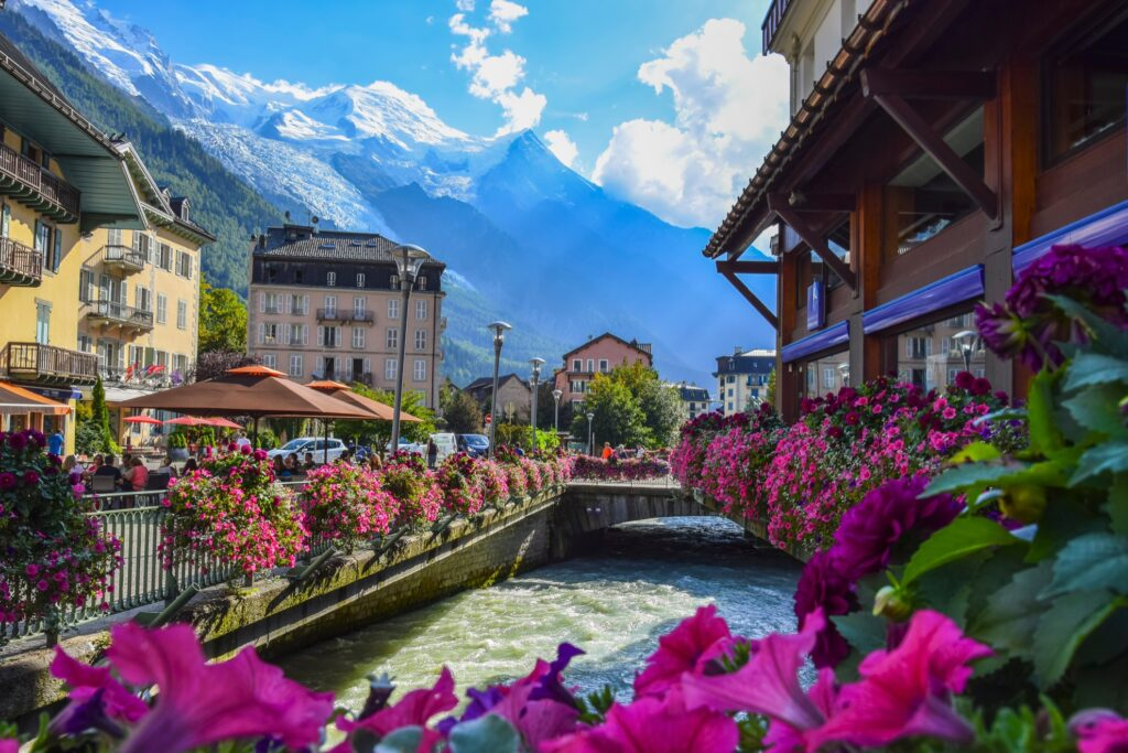 The French town of Chamonix.