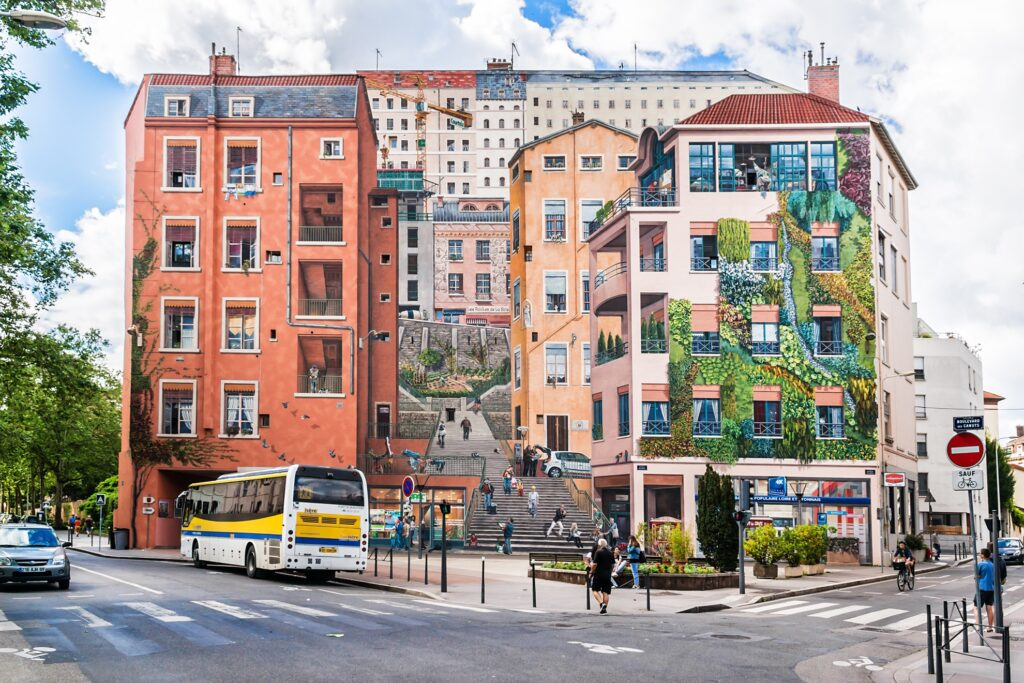 The Fresque des Canuts in Lyon.