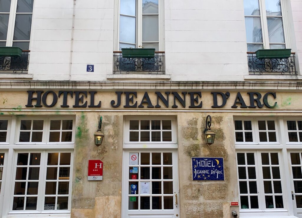 The front of Hotel Jeanne D'Arc.