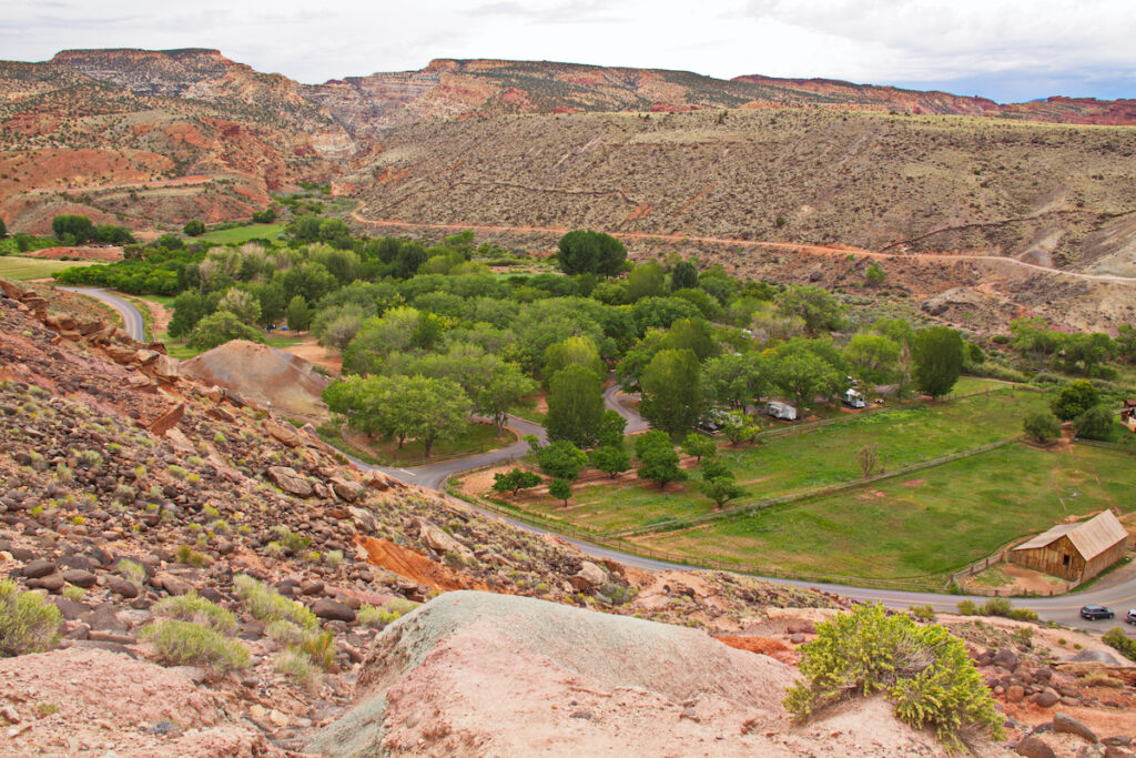The Fruita Campground in Capitol Reef National Park.