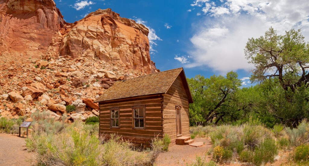 The Fruita Schoolhouse in Capitol Reef National Park.