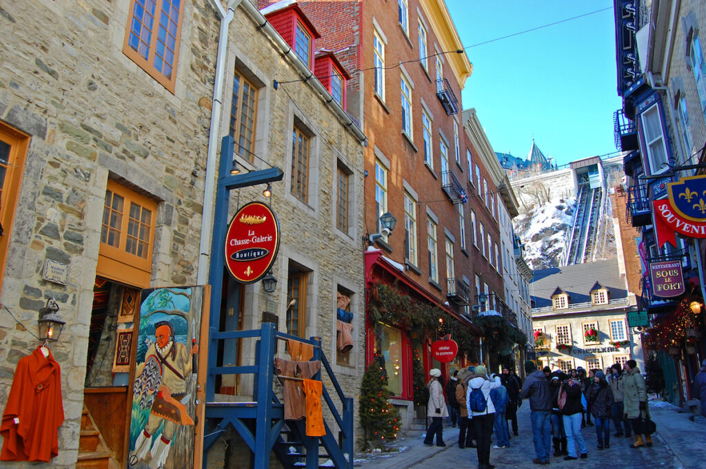 The Funiculaire in Old Quebec City.