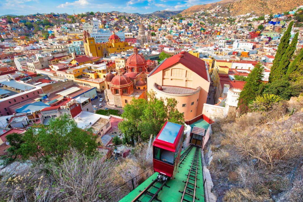 The funicular at Guanajuato.