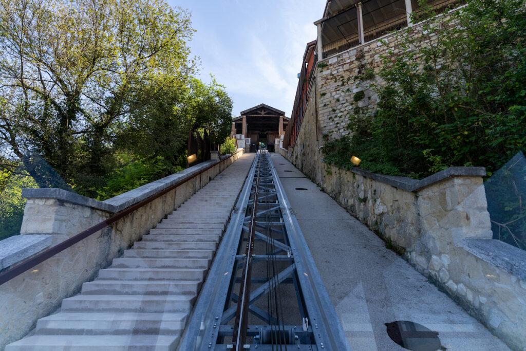 The Funicular Castel San Pietro in Verona, Italy.