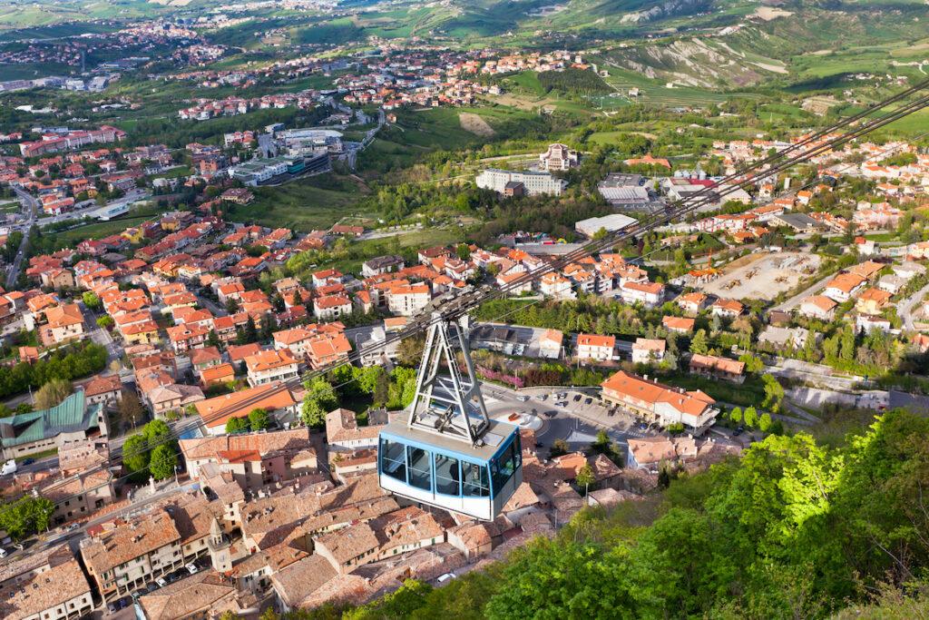 The funicular in San Marino.