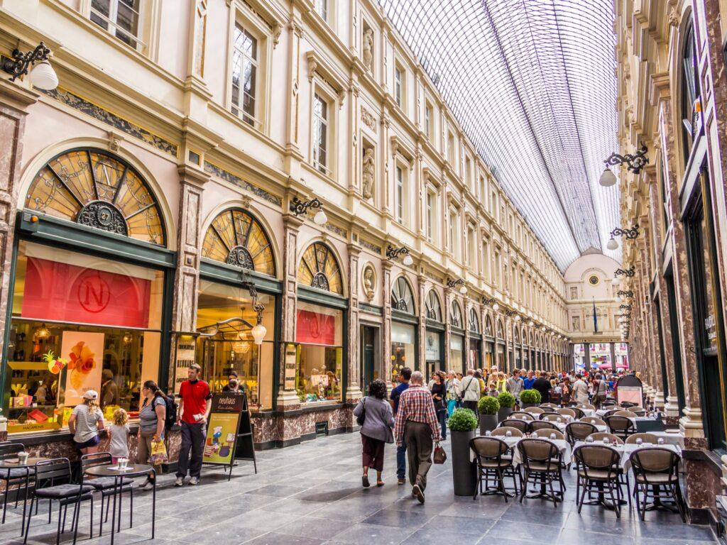 The Galeries Royales Saint-Hubert in Brussels.