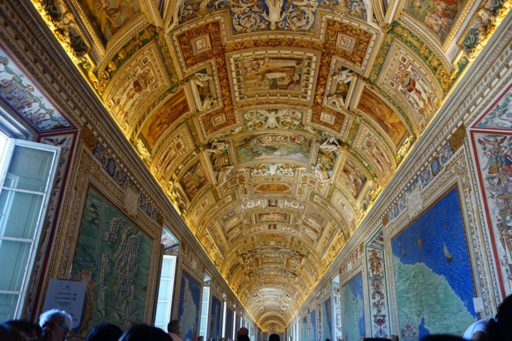 The Gallery of Tapestries in the Vatican Museum.