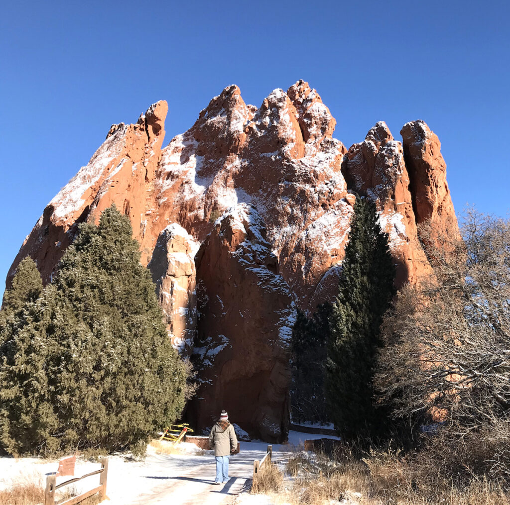 The Garden of the Gods in Colorado.