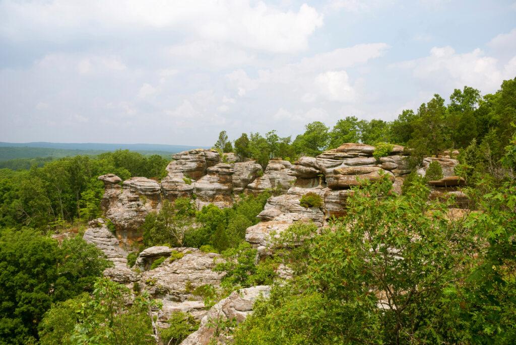 The Garden of the Gods Recreation Area in Illinois.