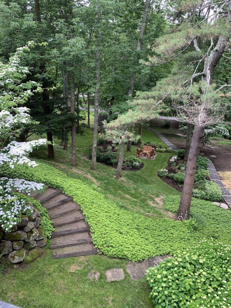The gardens at Camden Maine Stay Inn.