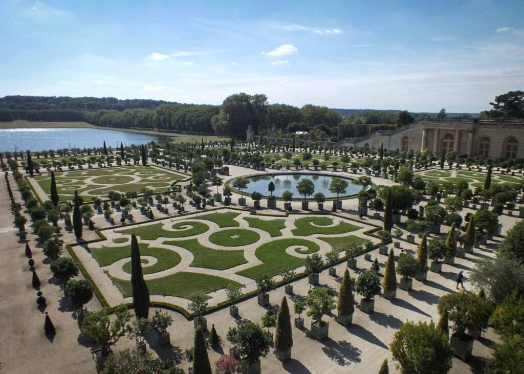 The Gardens at Château De Versailles in France.