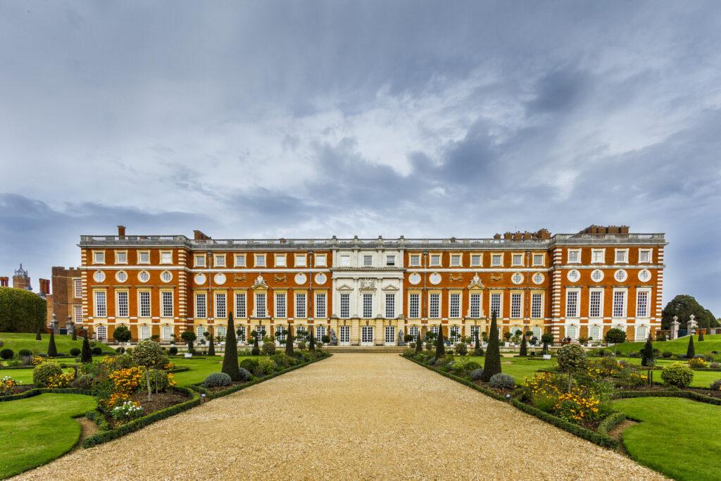 The gardens at Hampton Court Palace.