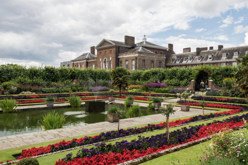 The gardens at Kensington Palace.