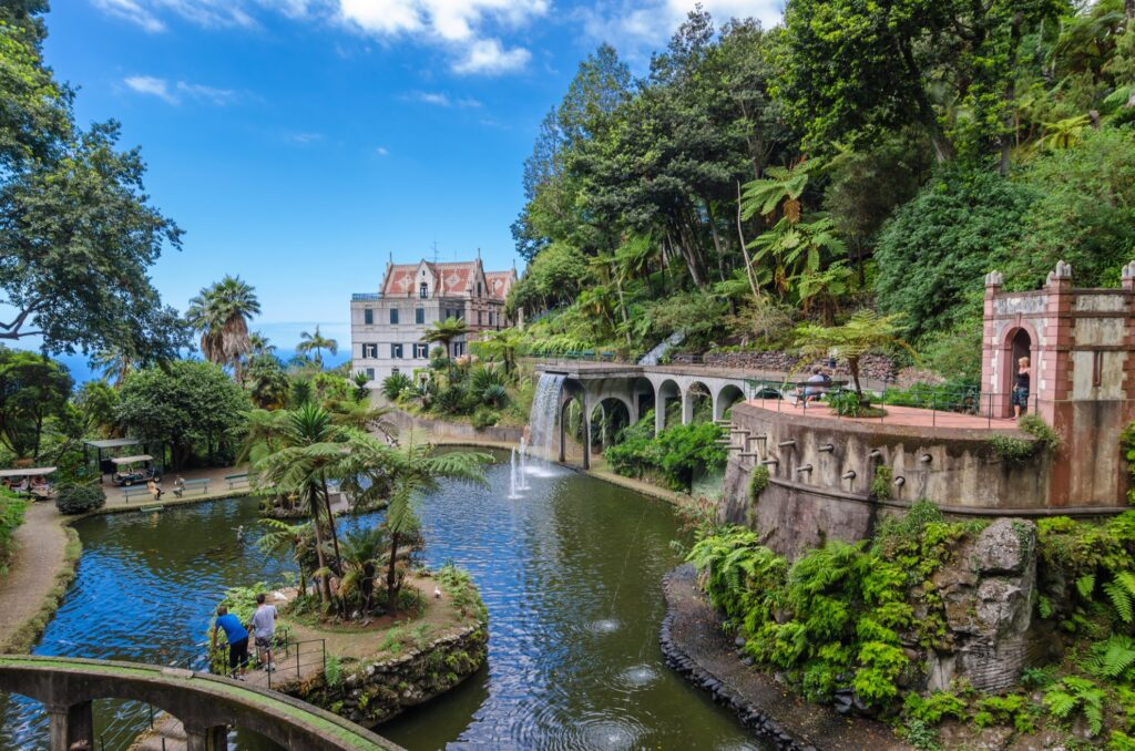The gardens at Monte Palace in Madeira.