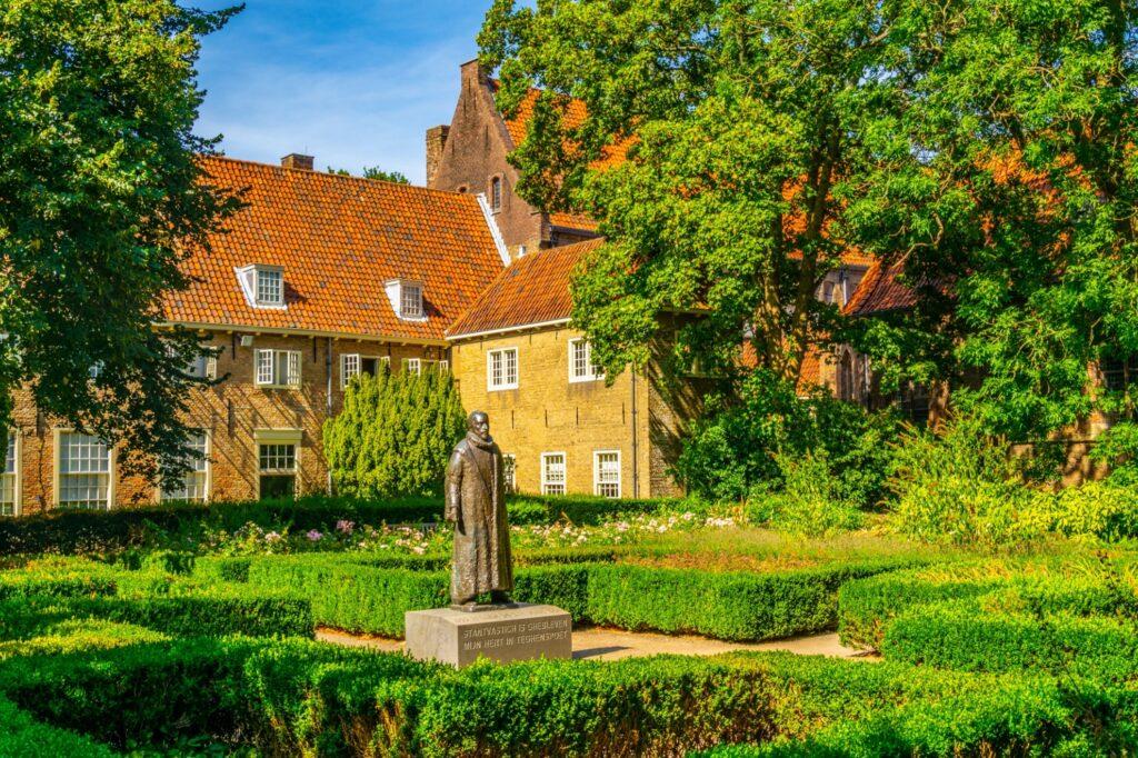 The gardens at the Prinsenhof Museum.