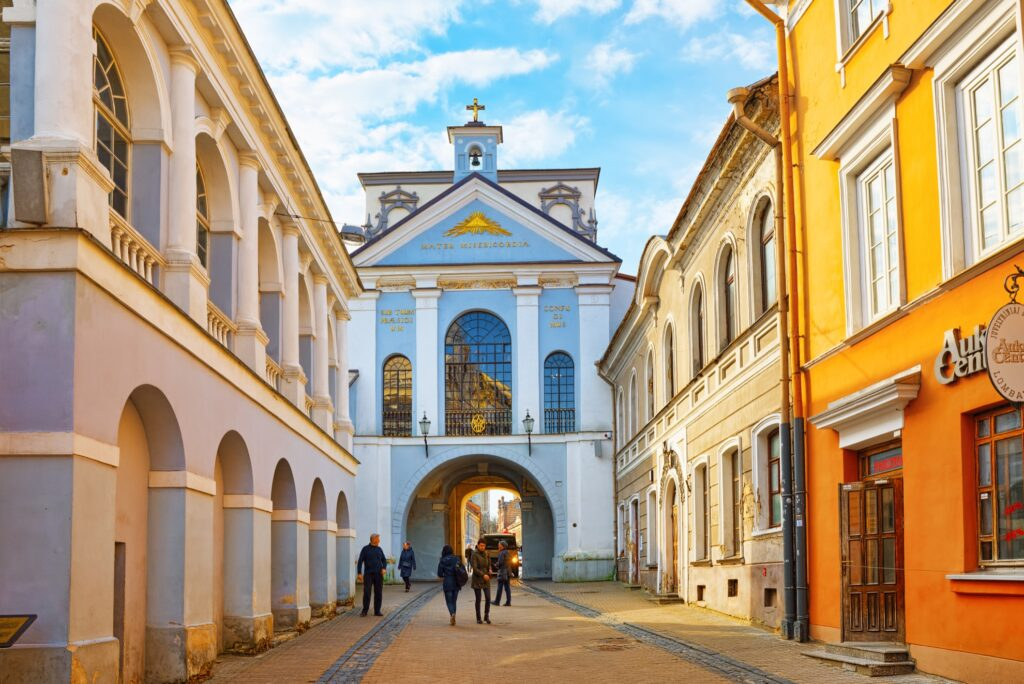 The Gate Of Dawn in Vilnius, Lithuania.