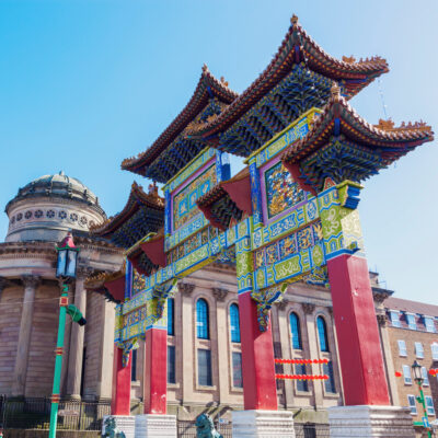 The gates of Chinatown in Liverpool, England.
