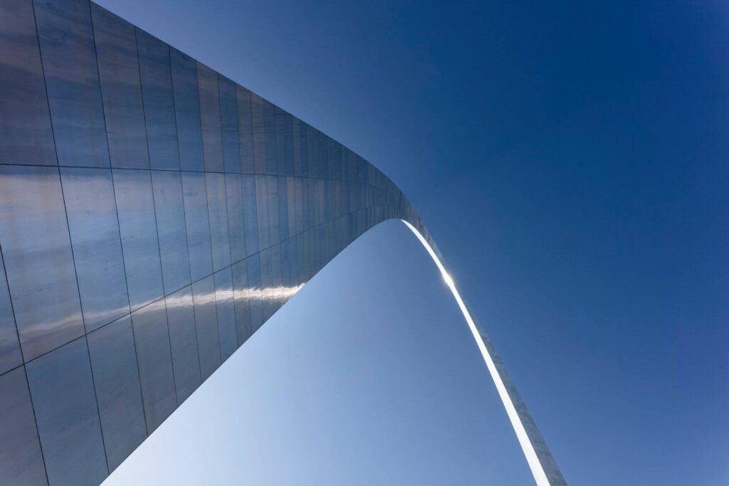 The Gateway Arch in downtown Saint Louis.