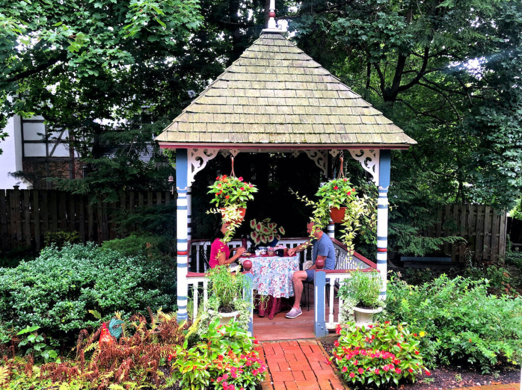 The gazebo over the hatch entrance to the Underground Railroad.