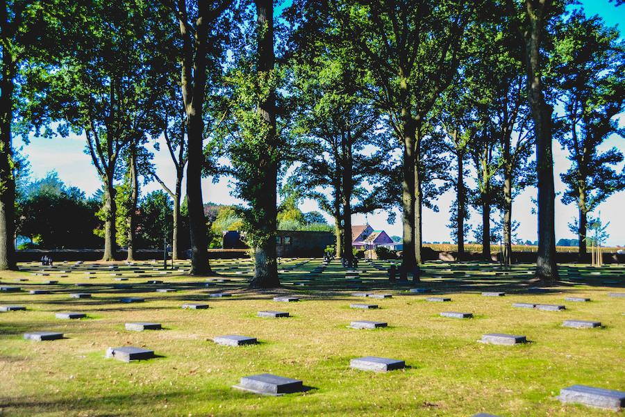 The German Military Cemetery in Langemarck.