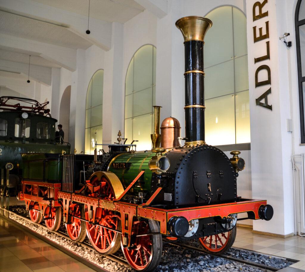 The German Railway Museum in Nuremberg.
