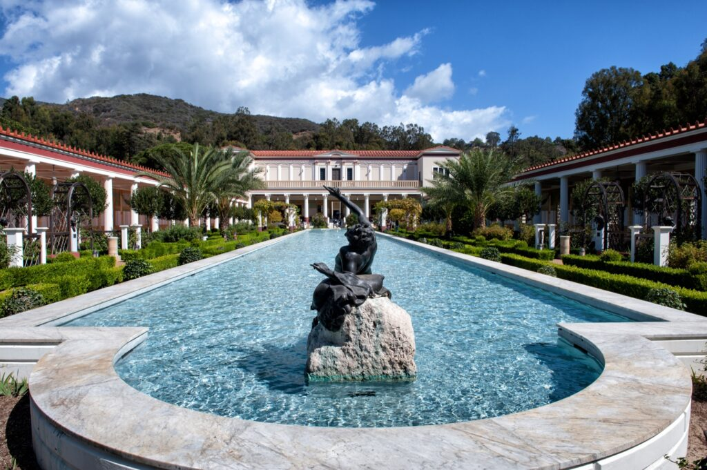 The Getty Villa in Malibu.