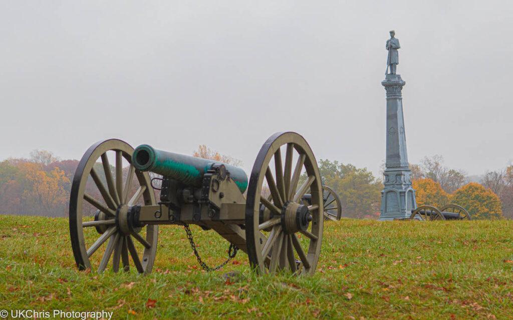 The Gettysburg Battlefield in Pennsylvania.