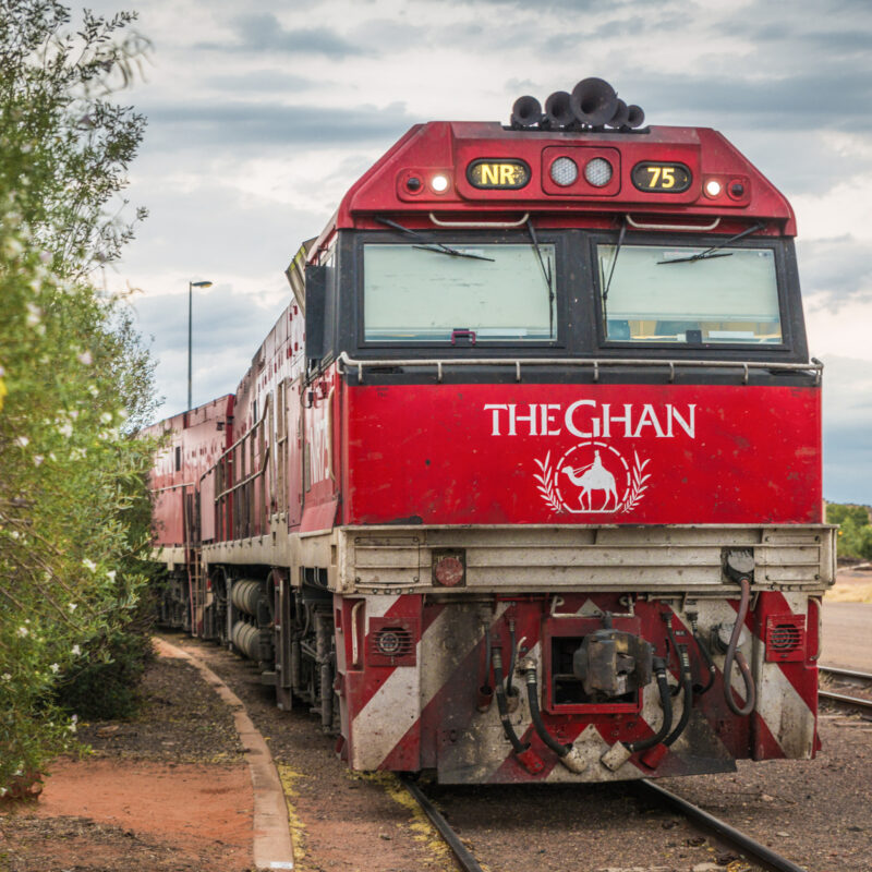 The Ghan, a famous railway in Australia.