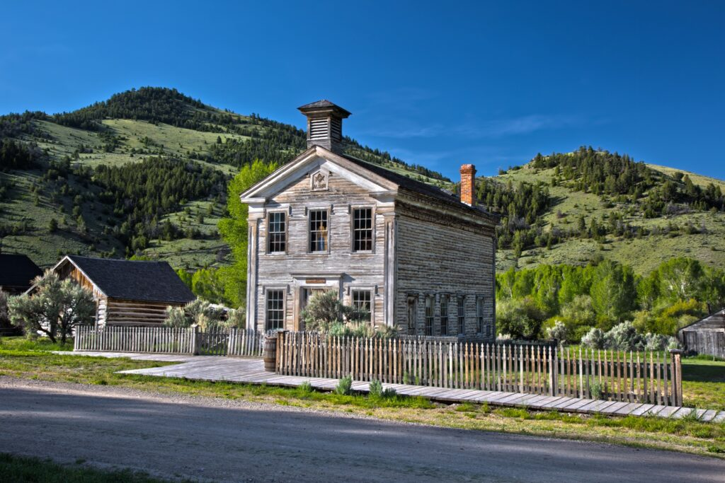 The ghost town of Bannack, Montana.