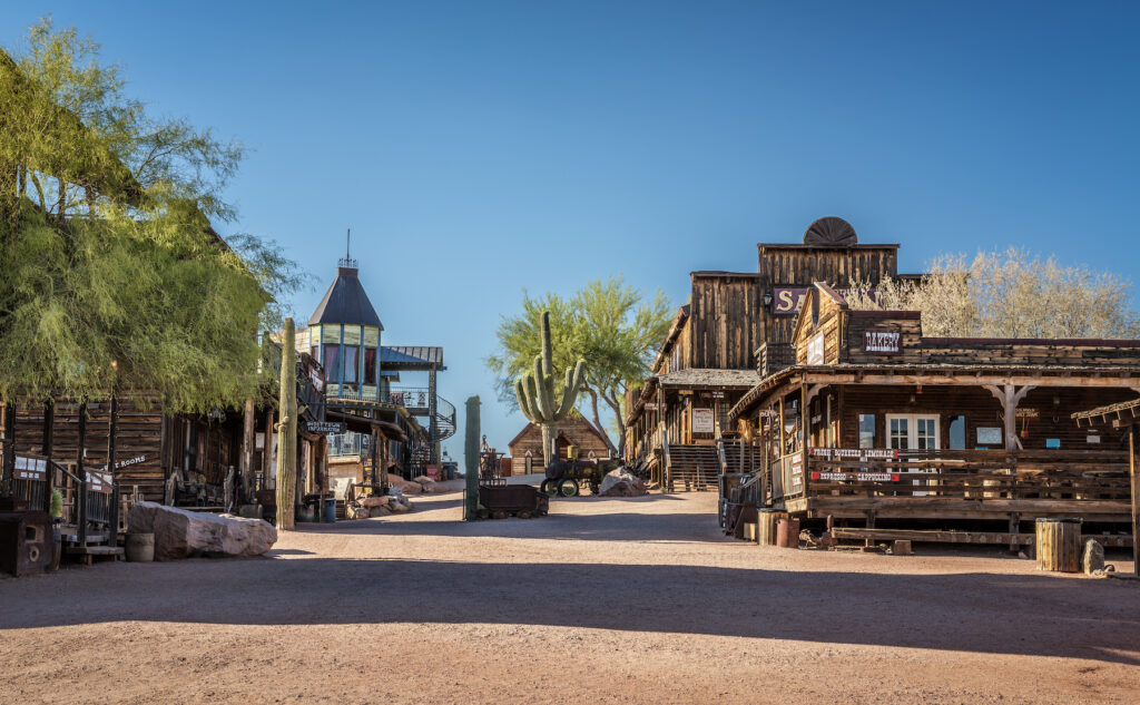 The ghost town of Goldfield, Arizona.