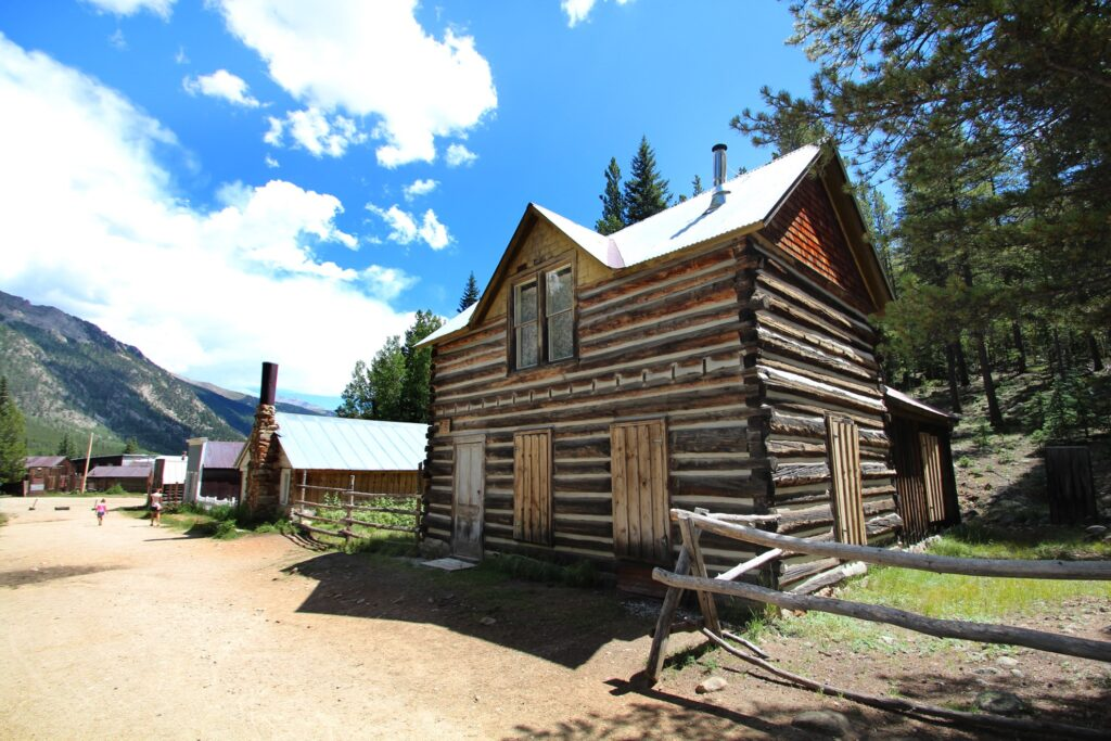 The ghost town of Saint Elmo in Colorado.
