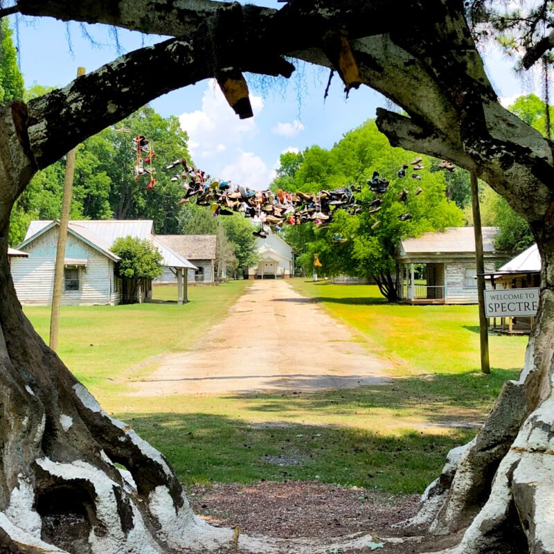The ghost town of Spectre, Alabama.