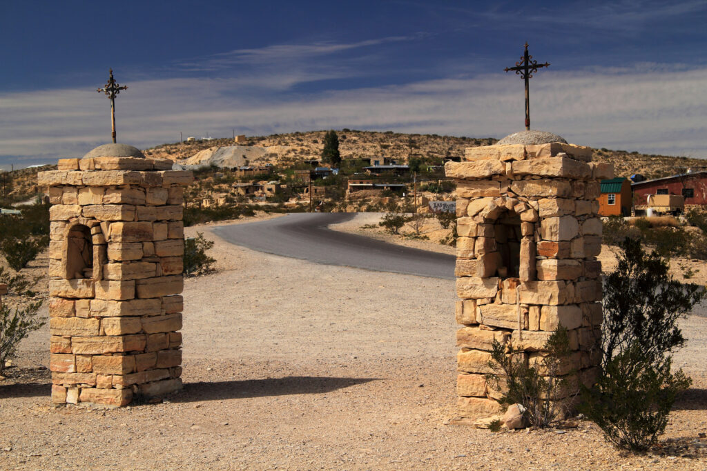 The ghost town of Terlingua, Texas.