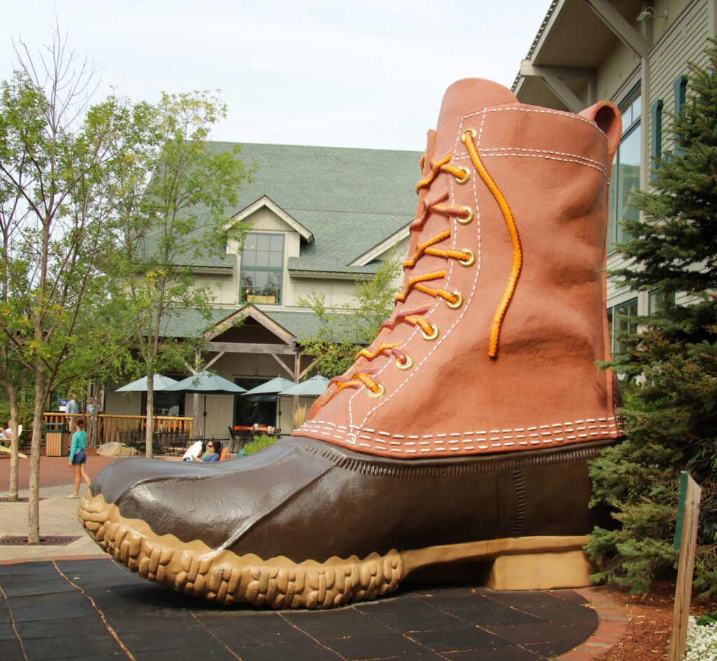 The giant boot at the L.L. Bean Factory and Store.