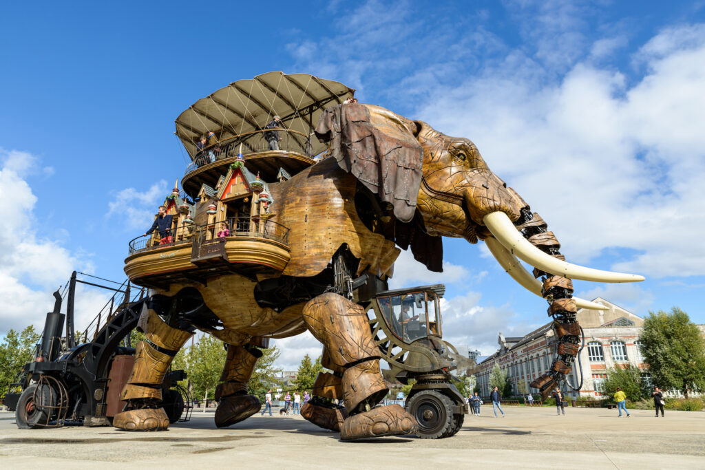The giant mechanical elephant in Nantes.