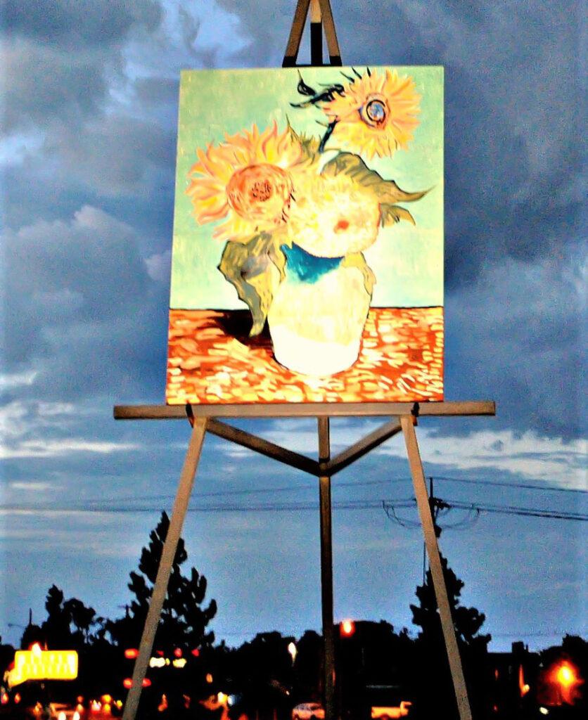 The Giant Van Gogh Painting in Goodland, Kansas.
