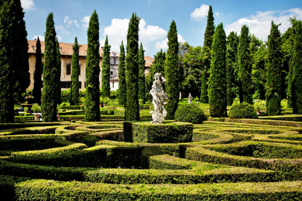 The Giardino Giusti in Verona, Italy.