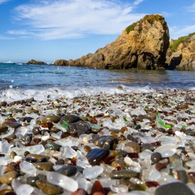 The Glass Beach at MacKerricher State Park in California.