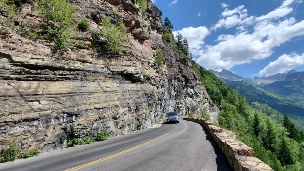 The Going-To-The-Sun-Road in Glacier National Park.