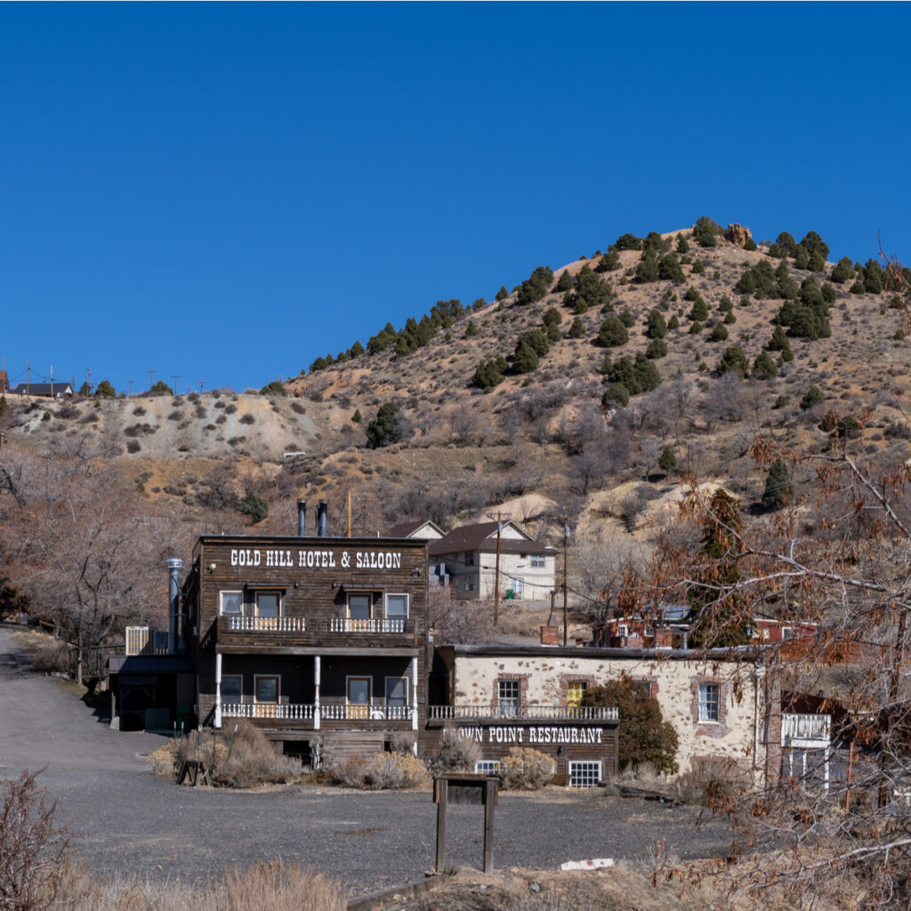 The Gold Hill Hotel and Saloon in Virginia City, Nevada.
