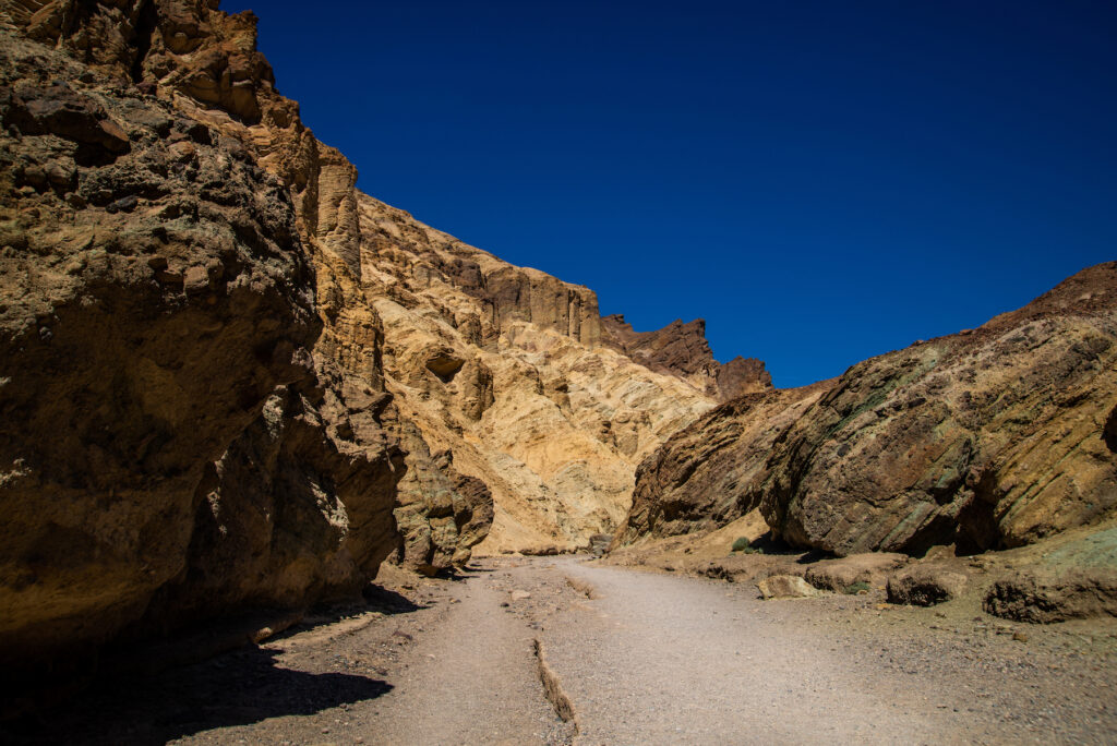 The Golden Canyon Trail in Death Valley National Park.