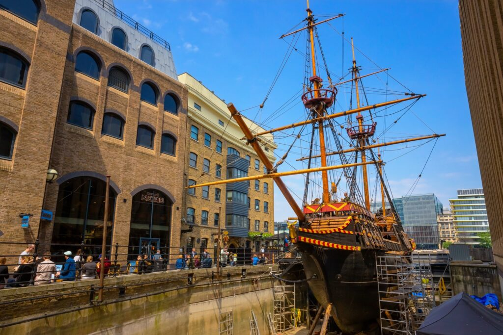 The Golden Hinde ship in London.